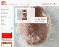 Bild Webseite Wiener Feinbäckerei Mannheim