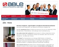 Website ABLE - Academy for Business and Legal English