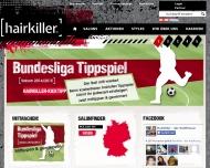 Bild Webseite Hairkiller Darmstadt