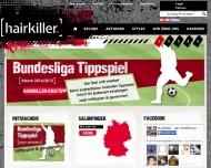 Bild Webseite Hairkiller Karlsruhe