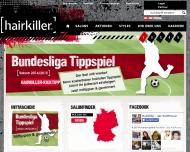 Bild Webseite Hairkiller Stuttgart