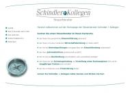 Website Sozietät Schindler + Kollegen Steuerberater