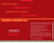 Bild Webseite Herzog Personal-Service Köln