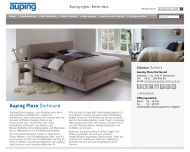 Website Auping Plaza Dortmund