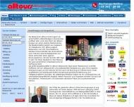 Website Reisecenter alltours Reisebüro Rope, Inhaber Eckmar Hinz