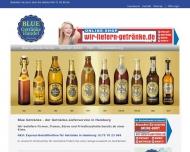 Website Blue Getränkehandel
