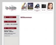 Bild Webseite ip.kom Elektro Köln