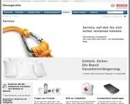 Website Robert Bosch Hausgeräte