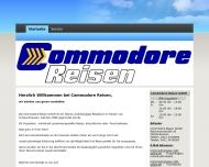 Bild Webseite Commodore Reisen Bremen