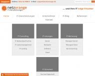 Bild Webseite netzorange IT Dienstleistungen Köln