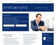 Bild Webseite EXPERTS & TALENTS Unternehmensgruppe Essen