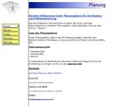 Website Planungsbüro Wößner