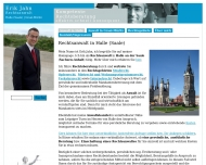 Bild Webseite Rechtsanwalt Erik Jahn Halle