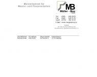 Bild Webseite Müller-Bau Hamburg