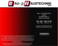 Website Bau- & Haustechnik