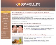 Website Praxis für Podologie und Wellness Sibylle Kossack