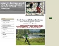 Bild Webseite Sportreisen und Präventionskurse Berlin