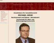 Bild Webseite Fachanwaltbüro Michael Wehe Frankfurt