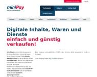 Bild Webseite miniPay Aachen