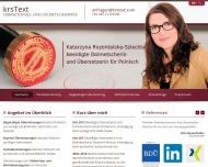 Bild krsText beeidigte Dolmetscherin und Übersetzerin Deutsch-Polnisch