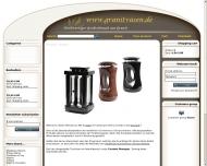 Bild Webseite Granitvasen Nürnberg