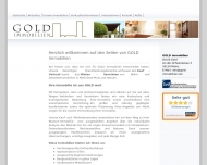 Website GOLD Immobilien