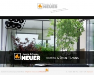 Website Kamin & Sauna Neuer