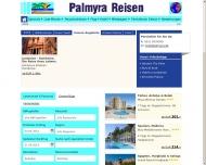 Bild Webseite PALMYRA Reisen Köln