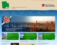 Bild Webseite ITALWEG-Italienreisen Köln