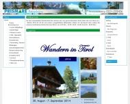 Bild Webseite PRISMARE Reisebüro Köln