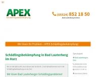 Bild Webseite APEX Bad Lauterberg im Harz