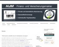 Website HJM Finanz- und Versicherungsmakler