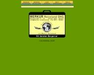 Bild Webseite Merkur Reiseland Mannheim