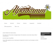 Website Alpenkamm Friseursalon