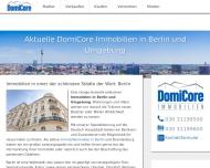 Website DomiCore Immobilien UG (