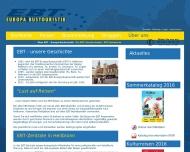 Website EBT - Europa Bustouristik