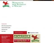 Bild Webseite Pappasito's Mexikanisches Restaurant München