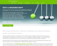 Website Text & Wissenschaft