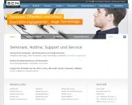 Bild Webseite SCN Köln