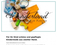Website Wunderland Secondhand für Kinder