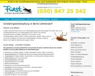 Website Fürst Schädlingsbekämpfung