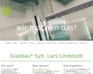 Website Glasbau Sylt, Lars Lindstedt