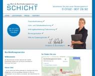 Bild Webseite Büro- und Buchhaltungsservice Schicht Reichenbach an der Fils