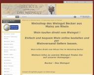 Website Weinshop Becker - Weinversand