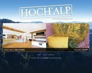 Website Hochalp Spezialitätenhandel