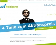 Bild Webseite Alfa Reinigung am Harras München