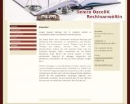 Bild Webseite Rechtsanwältin Semra Özcelik Frankfurt