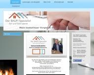 Website Der BAUFI Spezialist, Gerhard Geißendörfer, Agentur für ungebundene Baufinanzierung Beratung
