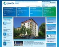Website gewobe Wohnungswirtschaftliche Beteiligungsgesellschaft