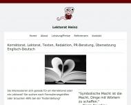 Website Lektorat-Heinz